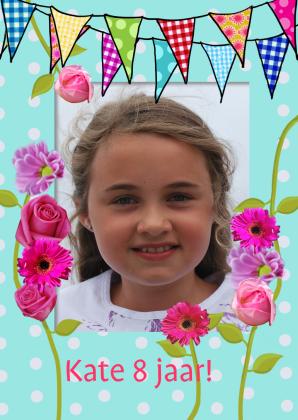 Leuke verjaardagskaart voor 8 jarige